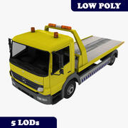Mercedes Atego Tow Truck With LODs 3d model