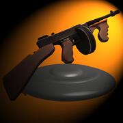 汤米枪 3d model