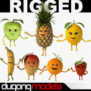 Collezione Fruits Rigged 3d model