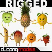 Colección Fruits Rigged modelo 3d