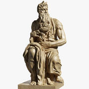 Moisés de Michelangelo Buonarotti 3d model