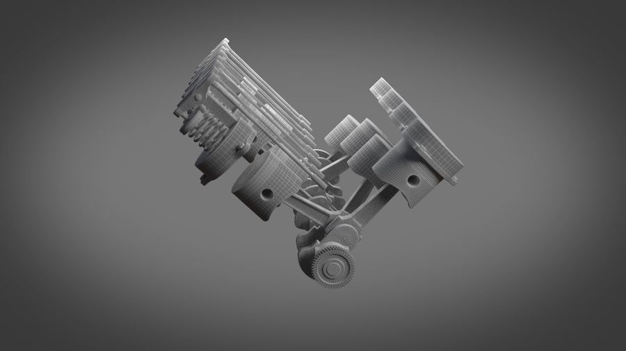 Engine royalty-free 3d model - Preview no. 15