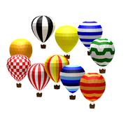 Cartoon low poly baloons 3d model