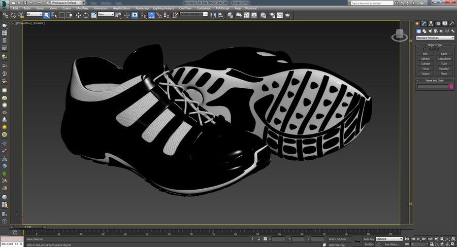 Chaussures de course royalty-free 3d model - Preview no. 21