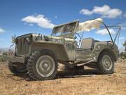 지프 Willys 손상 3d model