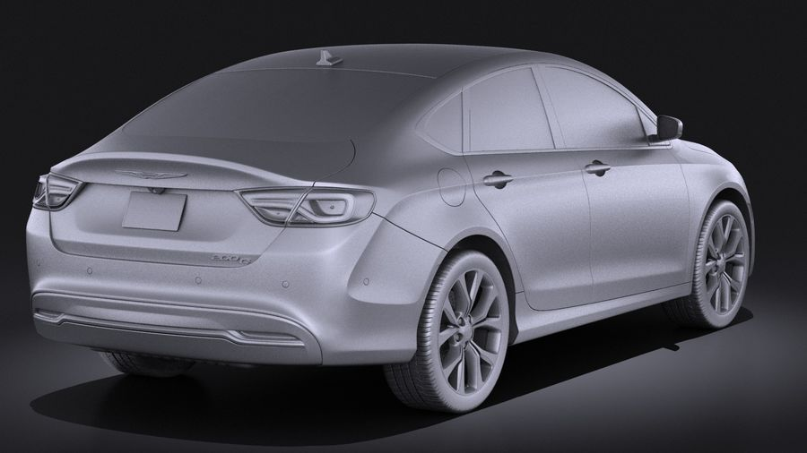 Chrysler 200 2017 royalty-free 3d model - Preview no. 12