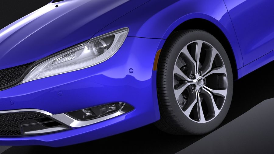 Chrysler 200 2017 royalty-free 3d model - Preview no. 3