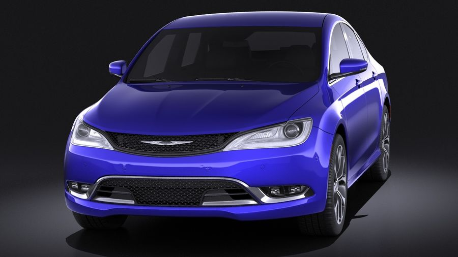 Chrysler 200 2017 royalty-free 3d model - Preview no. 2