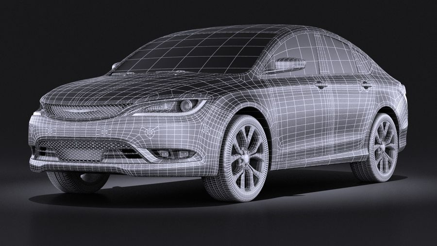 Chrysler 200 2017 royalty-free 3d model - Preview no. 15