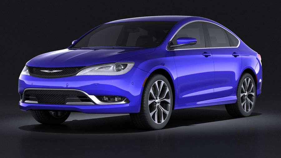 Chrysler 200 2017 royalty-free 3d model - Preview no. 1