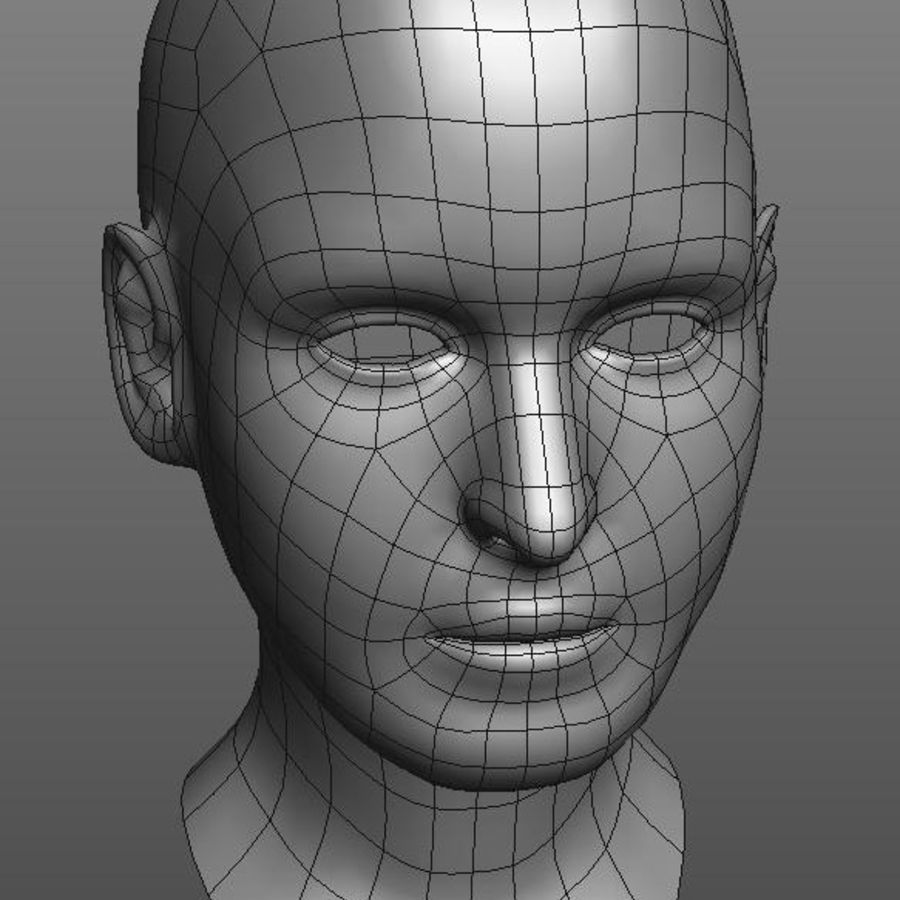tête basemesh royalty-free 3d model - Preview no. 4