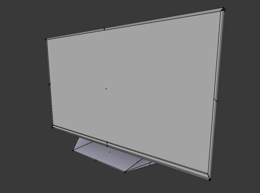 LG TV (LOW POLY) royalty-free 3d model - Preview no. 9