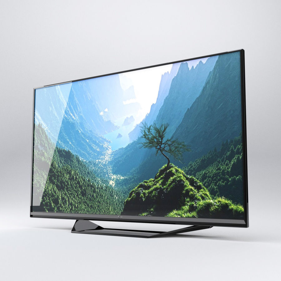 LG TV (LOW POLY) royalty-free 3d model - Preview no. 2