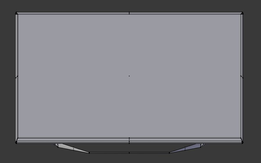 LG TV (LOW POLY) royalty-free 3d model - Preview no. 8