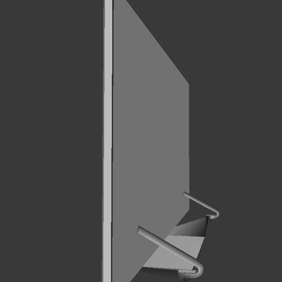 LG TV (LOW POLY) royalty-free 3d model - Preview no. 6