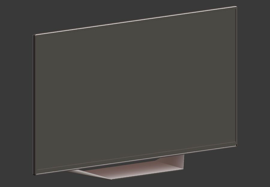 LG TV (LOW POLY) royalty-free 3d model - Preview no. 4