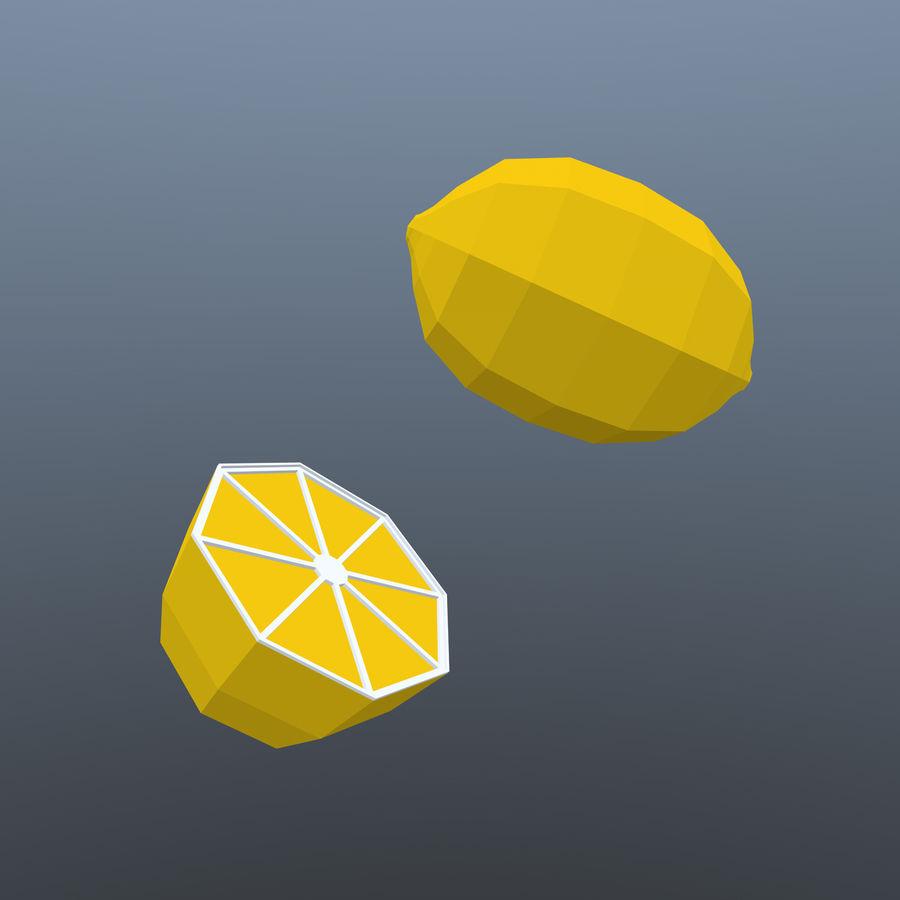 низкополигональная лимон (игра готова) royalty-free 3d model - Preview no. 4