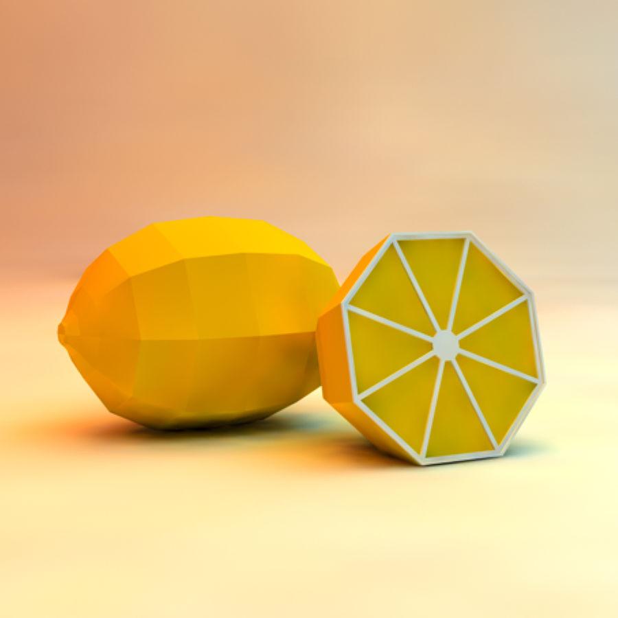 низкополигональная лимон (игра готова) royalty-free 3d model - Preview no. 1