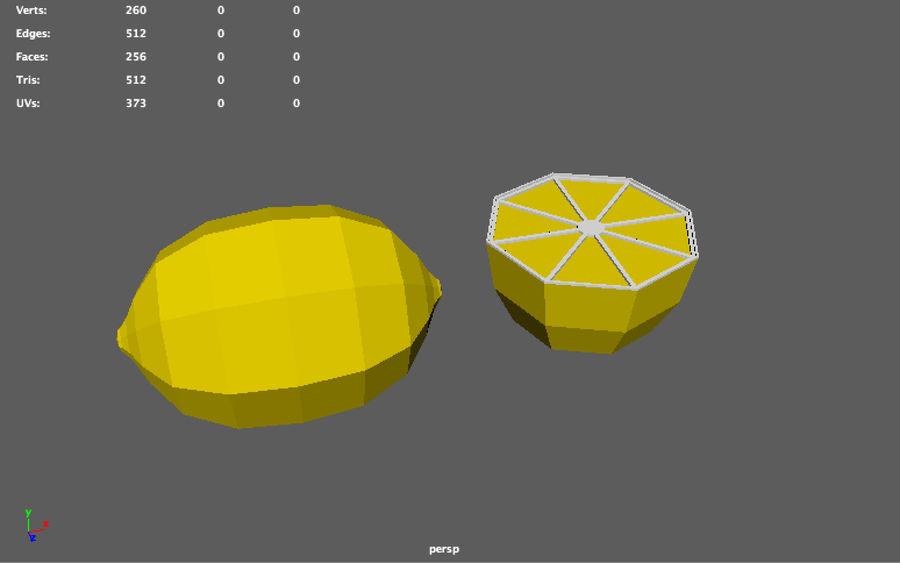 низкополигональная лимон (игра готова) royalty-free 3d model - Preview no. 10