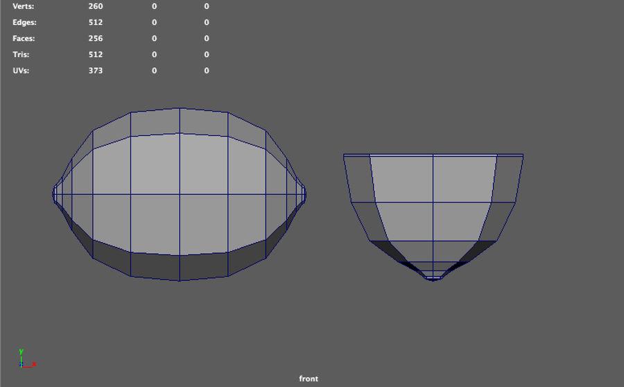 низкополигональная лимон (игра готова) royalty-free 3d model - Preview no. 8