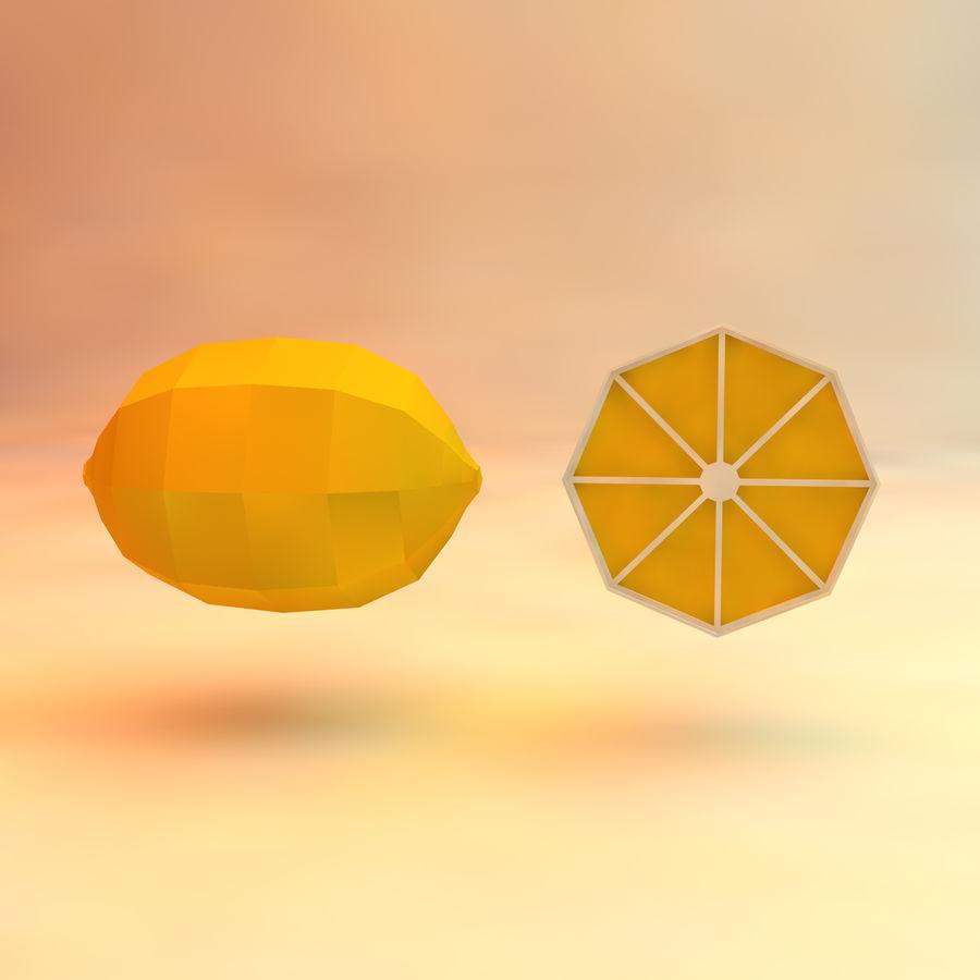 низкополигональная лимон (игра готова) royalty-free 3d model - Preview no. 3