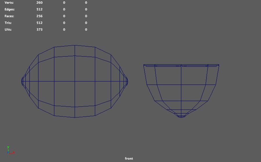 низкополигональная лимон (игра готова) royalty-free 3d model - Preview no. 7
