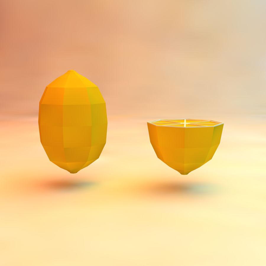 низкополигональная лимон (игра готова) royalty-free 3d model - Preview no. 2