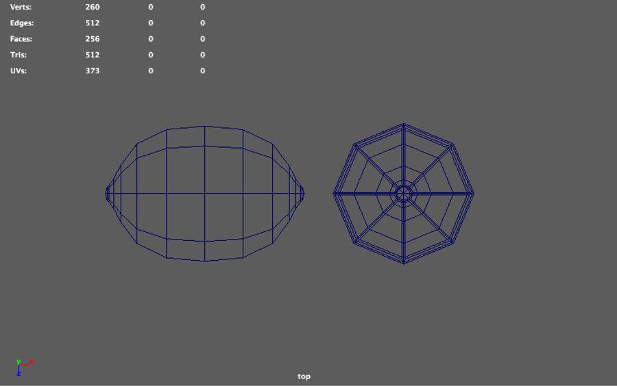 низкополигональная лимон (игра готова) royalty-free 3d model - Preview no. 6