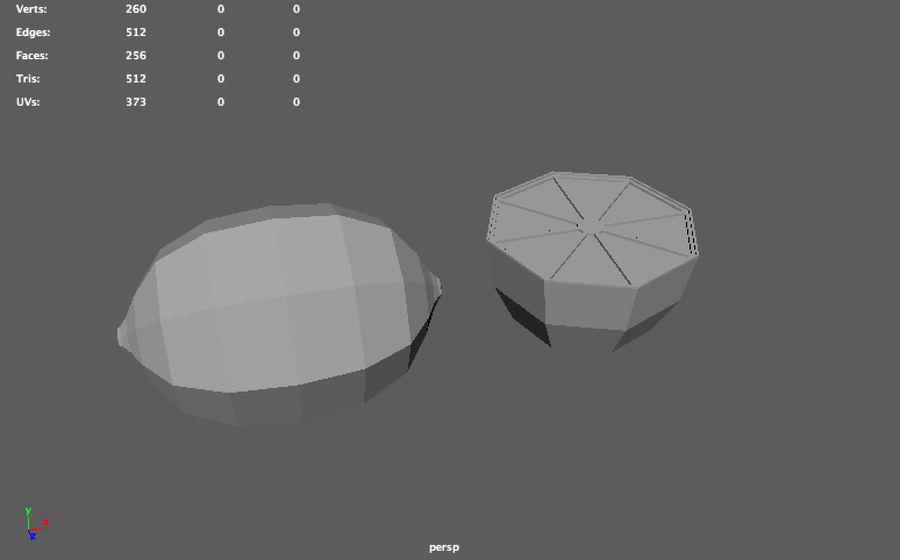 низкополигональная лимон (игра готова) royalty-free 3d model - Preview no. 9
