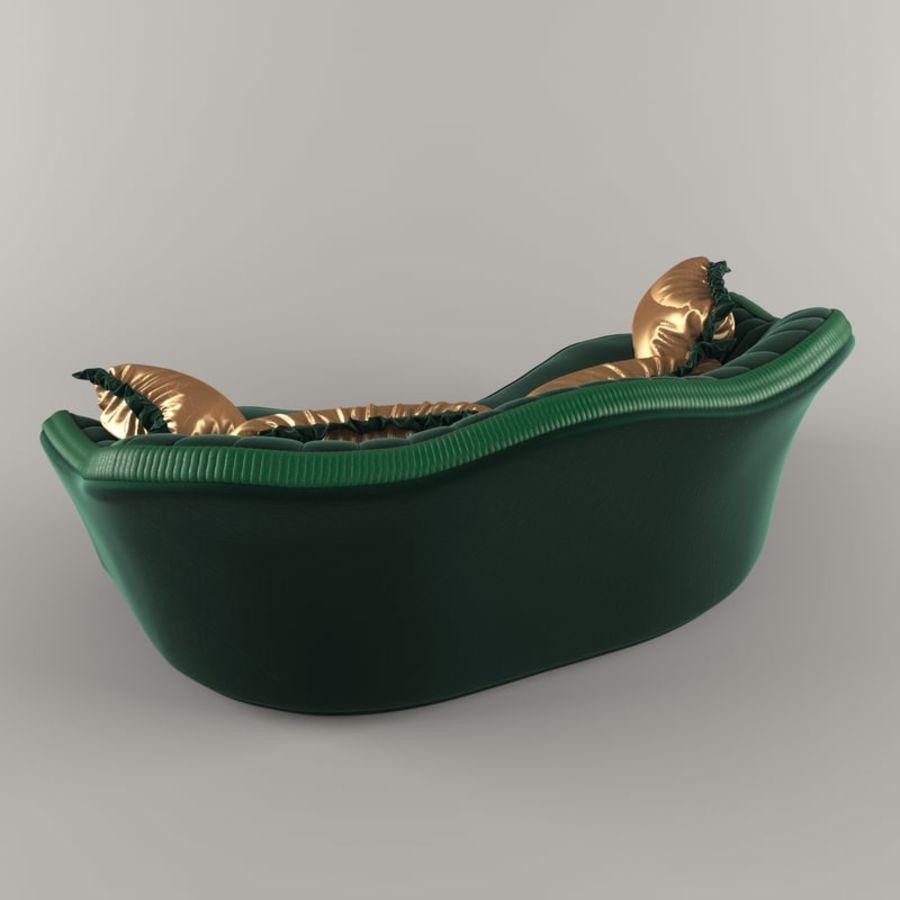 Sofa Zanaboni chester 2 seats royalty-free 3d model - Preview no. 5