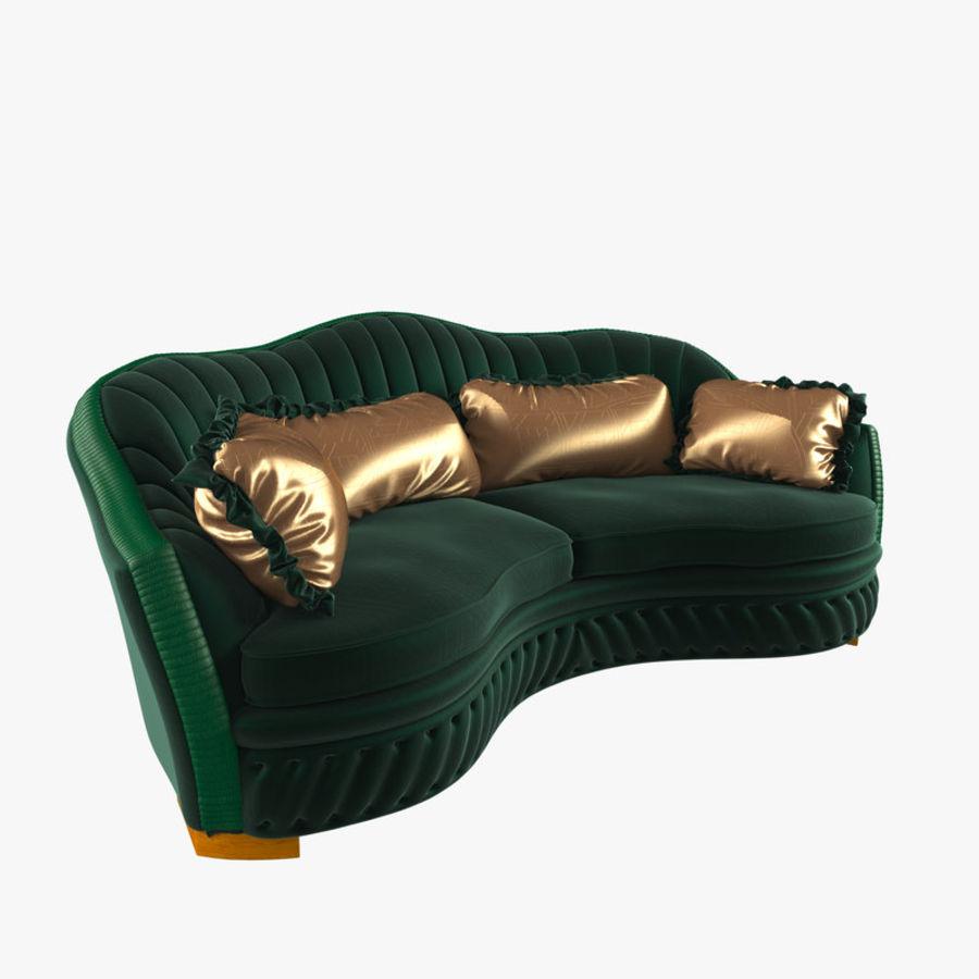 Sofa Zanaboni chester 2 seats royalty-free 3d model - Preview no. 1