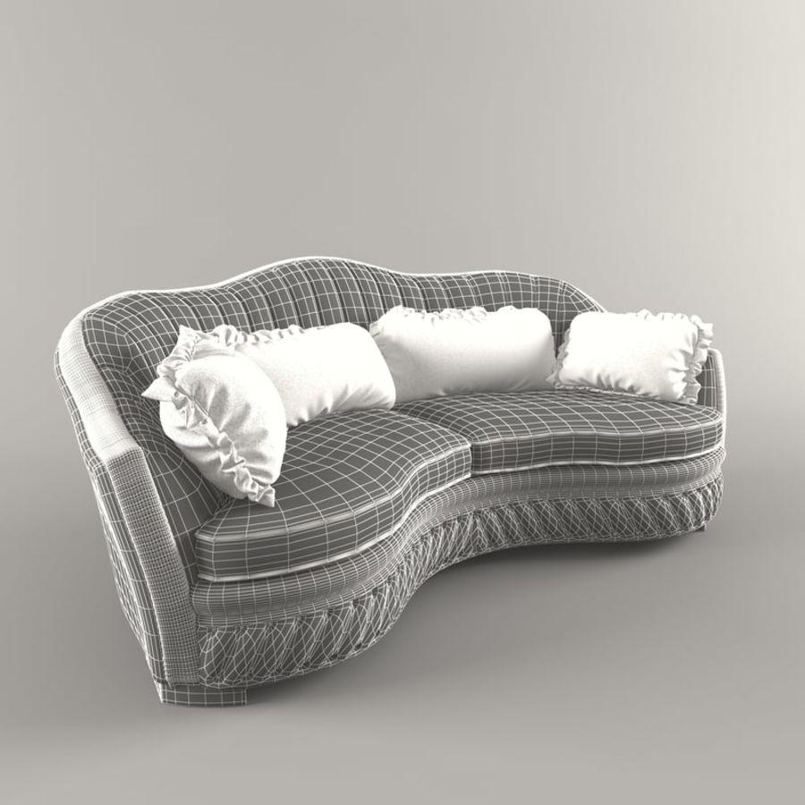 Sofa Zanaboni chester 2 seats royalty-free 3d model - Preview no. 7