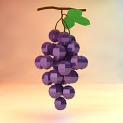 raisins low poly (jeu prêt) 3d model