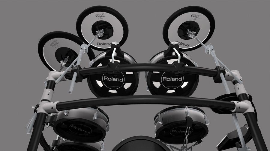 Electronic Drum Kit: Roland V-Drums TD20 royalty-free 3d model - Preview no. 9