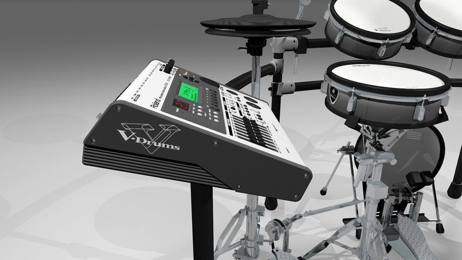 Electronic Drum Kit: Roland V-Drums TD20 royalty-free 3d model - Preview no. 20