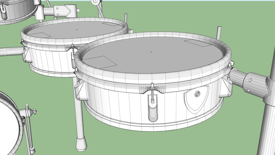 Electronic Drum Kit: Roland V-Drums TD20 royalty-free 3d model - Preview no. 50