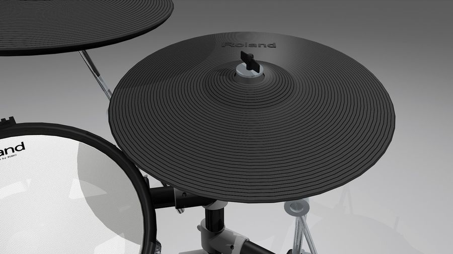 Electronic Drum Kit: Roland V-Drums TD20 royalty-free 3d model - Preview no. 12