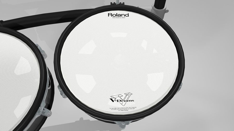 Electronic Drum Kit: Roland V-Drums TD20 royalty-free 3d model - Preview no. 13