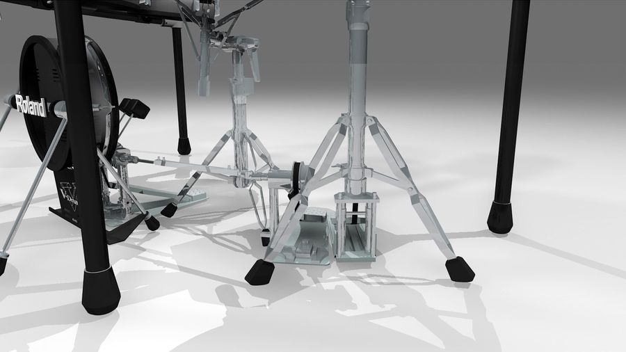 Electronic Drum Kit: Roland V-Drums TD20 royalty-free 3d model - Preview no. 18