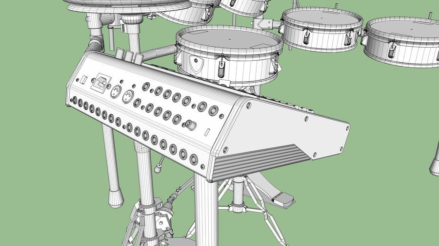 Electronic Drum Kit: Roland V-Drums TD20 royalty-free 3d model - Preview no. 54