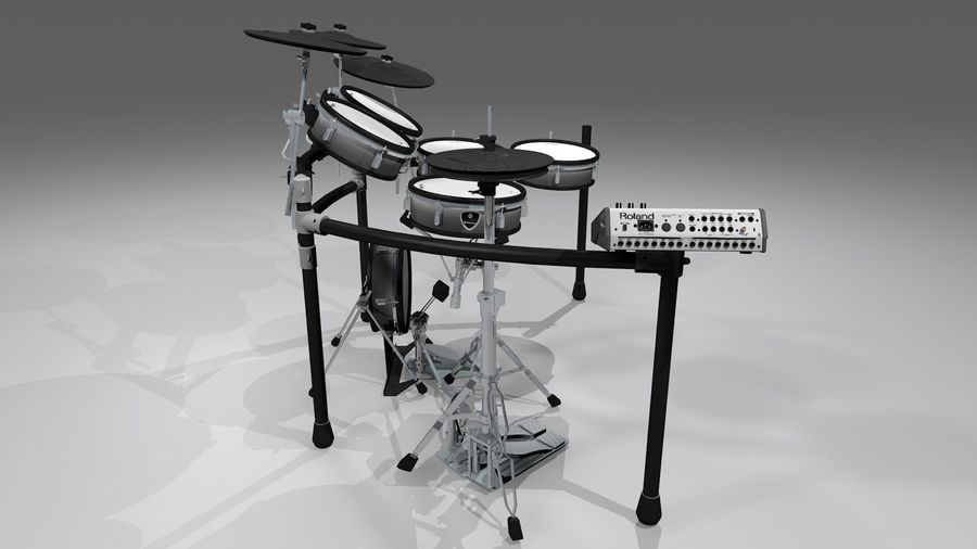 Electronic Drum Kit: Roland V-Drums TD20 royalty-free 3d model - Preview no. 22