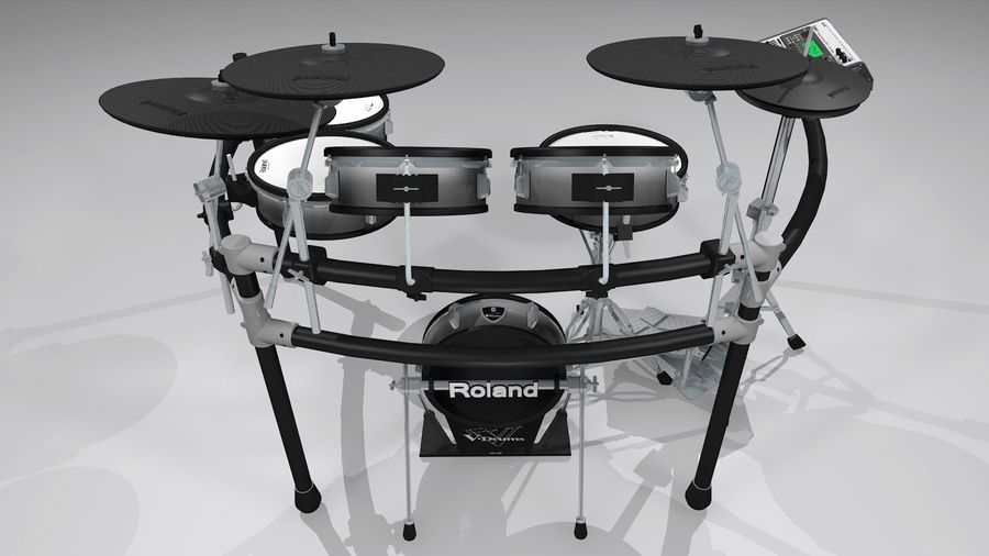 Electronic Drum Kit: Roland V-Drums TD20 royalty-free 3d model - Preview no. 23