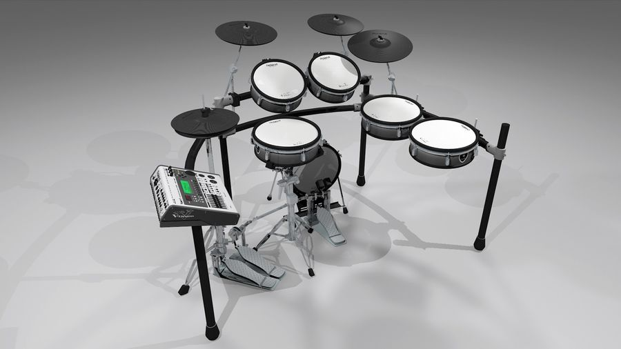 Electronic Drum Kit: Roland V-Drums TD20 royalty-free 3d model - Preview no. 25