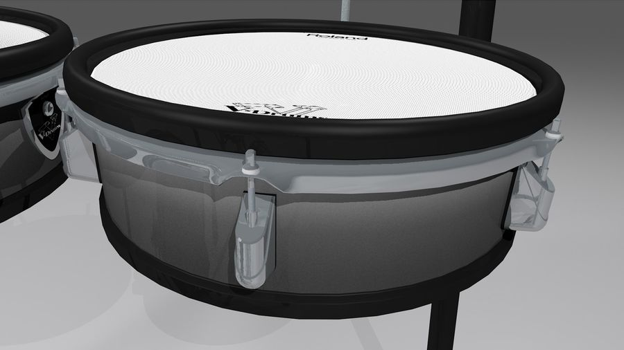 Electronic Drum Kit: Roland V-Drums TD20 royalty-free 3d model - Preview no. 15