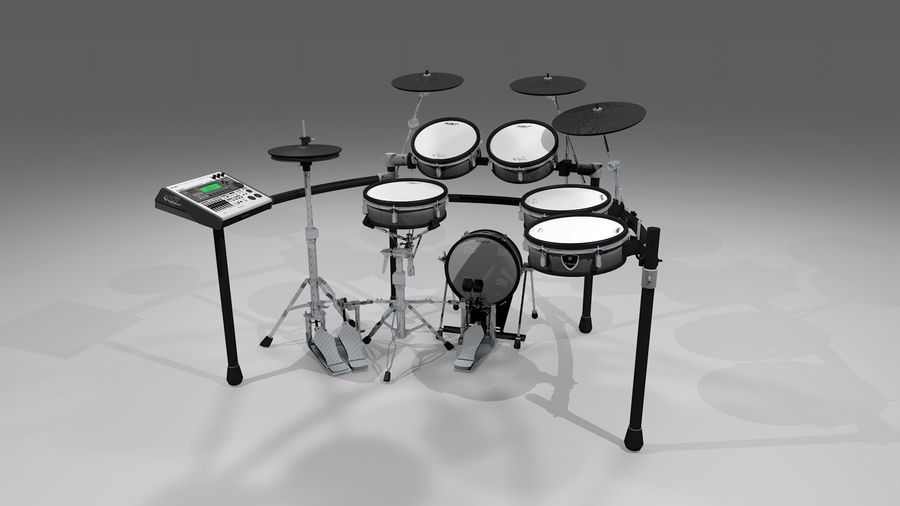 Electronic Drum Kit: Roland V-Drums TD20 royalty-free 3d model - Preview no. 2