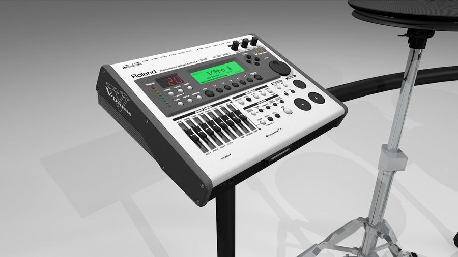 Electronic Drum Kit: Roland V-Drums TD20 royalty-free 3d model - Preview no. 19