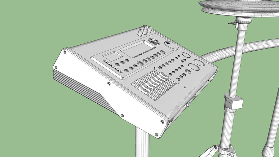 Electronic Drum Kit: Roland V-Drums TD20 royalty-free 3d model - Preview no. 53
