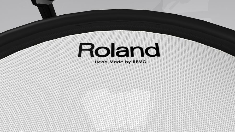 Electronic Drum Kit: Roland V-Drums TD20 royalty-free 3d model - Preview no. 27