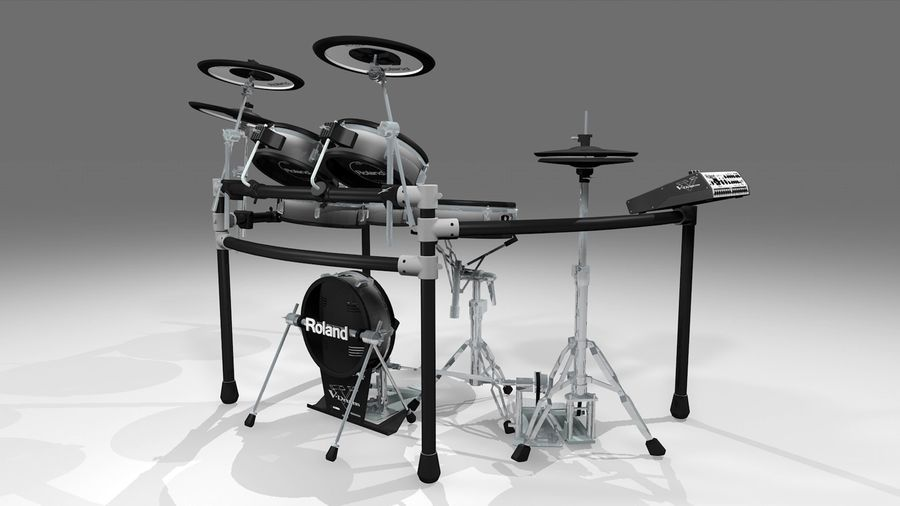 Electronic Drum Kit: Roland V-Drums TD20 royalty-free 3d model - Preview no. 6