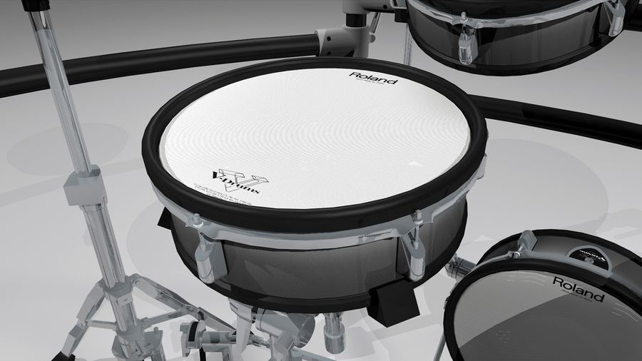 Electronic Drum Kit: Roland V-Drums TD20 royalty-free 3d model - Preview no. 10